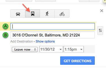 MTA bus icon on Google maps